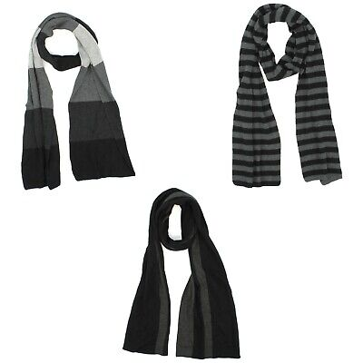 Apt. 9 Black Gray Striped Scarf for Men - 70 inches