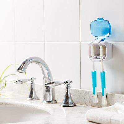Healthy 2 Set Double UV Sterilizer Toothbrush Holder Toothbrush Storage Stand