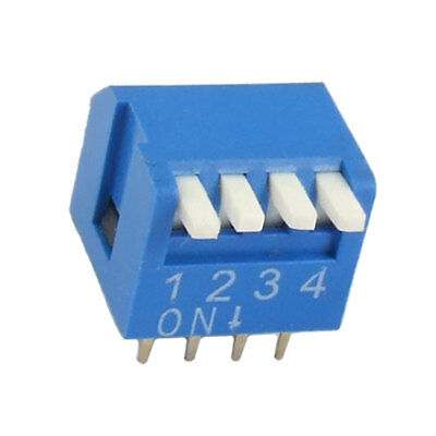 2.54mm Pitch 4 Position Piano Type DIP Switch 10 Pcs Xggbk