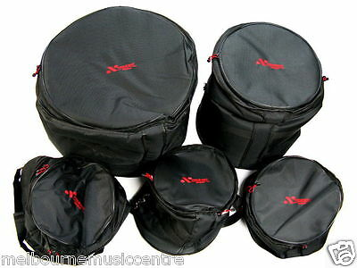 MMC DRUM PADDED BAG SET For 5 Piece Fusion Kit *Snare/Toms/Floor Tom/Bass* NEW!