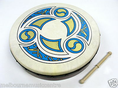 "WALTONS 18"" BODHRAN PACK Trinity Printed Head *w/DVD & Carry Bag* NEW!"