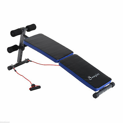Multifunction Folding Sit-up Bench Decline Fitness Board w/ Arm Exerciser