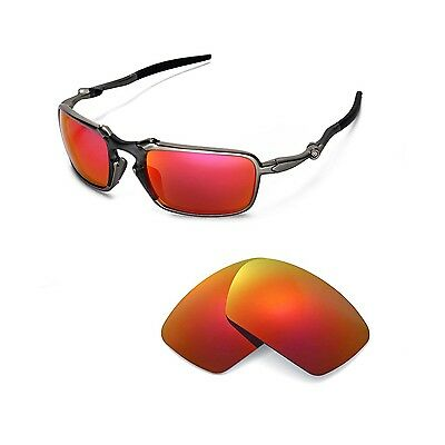 ff26840e425 New Walleva Polarized Fire Red Replacement Lenses For Oakley Badman  Sunglasses