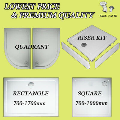 30 Stone trays for bathroom shower enclosure glass door riser kit free wastetrap
