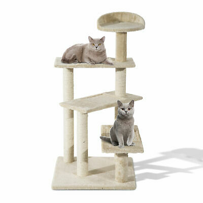 "PawHut 39"" Scratching Cat Tree Revolving Step Climbing Tower Post Pets Furniture"