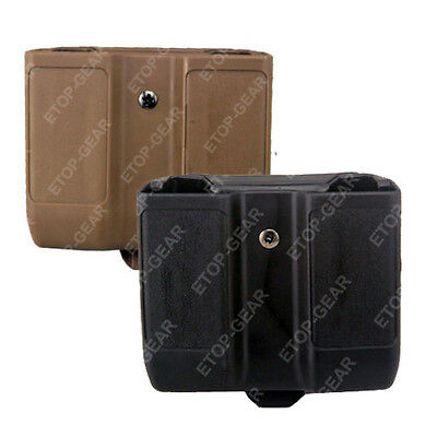 Quick Draw Double Magazine mag Pouch Case Stack Duty Belt Matte for GLOCK 17