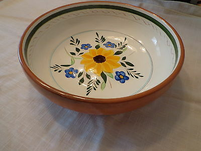 Stangl Country Garden Large 10 inch Salad Serving Bowl Pottery