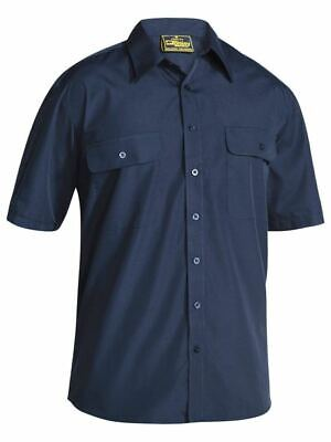 Bisley Workwear Mens Permanent Press Shirt - Short Sleeve (Bs1526)