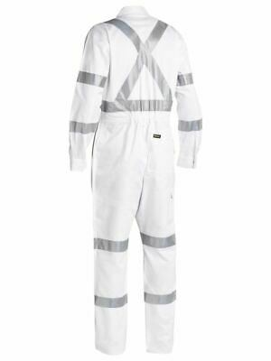 Bisley Workwe 3M Taped White Drill Coverall (Bc6806T)