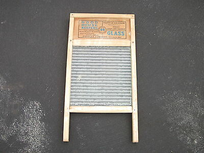 Vintage Antique Cupples GOOD HOUSE KEEPERS Wooden Washboard National Glass Front