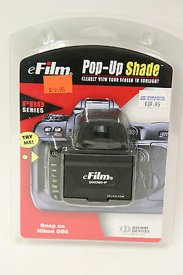 Delkin Pro Series snap on pop-up shade for the Nikon D80 camera(NOS)