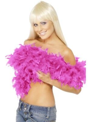 Deluxe Feather Boa Ladies Bright Pink Rocky Horror Fancy Dress Accessory 180Cm