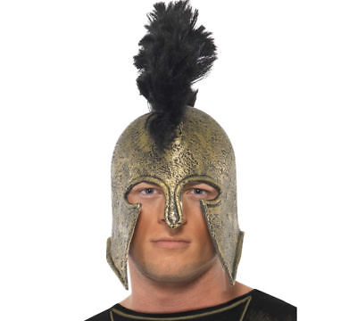 Mens Roman Spartan Gladiator Barbarian Saxon Warrior Fancy Dress Helmet Hat NEW