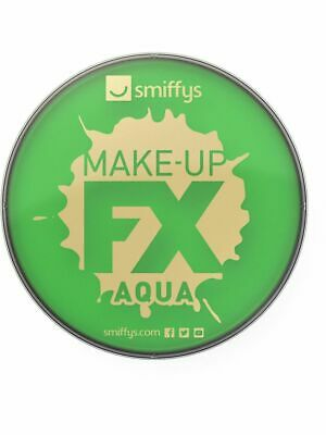 Green Face Paint Smiffys Aqua Face And Body Make Up Paint Fancy Dress Adults