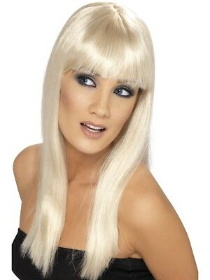 Glamourama Ladies Long Blonde Straight Glamour Wig For Fancy Dress