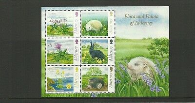 Alderney 2015 Flora & Fauna Minisheet  Mnh Issued Ist May