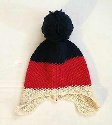EUC BABY GAP Winter Hat. Navy Red And Cream Stripes. Size 0-6 Months ... a76453f15bc