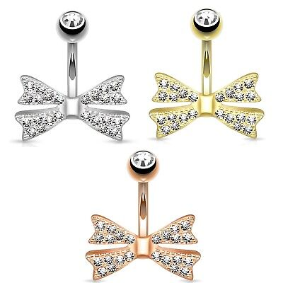 Body Jewellery STEEL BELLY NAVEL RING DOUBLE GEMS CZ BUTTON PIERCING 14G JEWELRY 14 Colors B660
