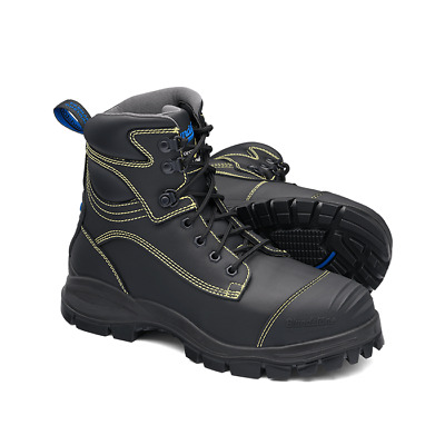 Blundstone Water Resistant Lace Up 150mm High Safety Boot With Metatarsal Guard