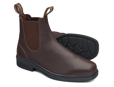 Blundstone Brown Thoroughbred Elastic Side Dress Non Safety Boot - V Cut (059)
