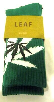 Men's Pair of Low Cut Black w/Green&White MJ Weed Leaves Socks Size 10-13-New!