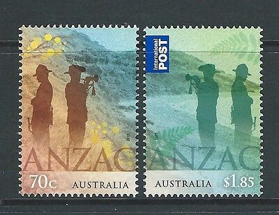 Australia 2015 Anzac Joint Issue With New Zealand Set Of 2 Unmounted Mint, Mnh