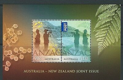 Australia 2015 Anzac Joint Issue With New Zealand Ms Unmounted Mint, Mnh