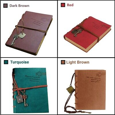 Retro Classic Vintage PULeather Key Blank Diary Journal Sketchbook Notebook Gift