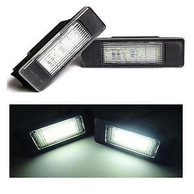 Peugeot 807 Replacement 18 SMD LED Number Plate Lamps Units 6000k White 1 x Pair
