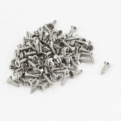M3x10mm Phillips Flat Head Stainless Steel Self Tapping Screws Fastener 100Pcs