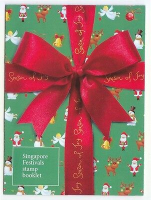 Singapore 2014 Festivals (Christmas) Self Adhesive Booklet Of 10 Stamps In Mint