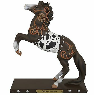 TRAIL OF PAINTED PONIES - Western Leather - Horse Figurine - 1E / 2695