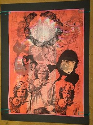 The Doors Vintage Blacklight Poster Psychedelic Pin-up Morrison Hawkins 1968 Zoo
