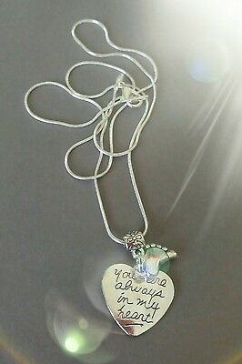 Baby feet memory Necklace, Always In My Heart