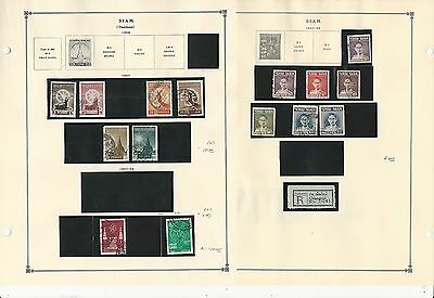 Thailand Collection 1941 to 1965 on Scott International Pages