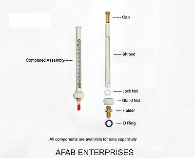 Thermometer, Shroud, Housing, assembly for Abbe 3L Refractometer - AFAB Ent.