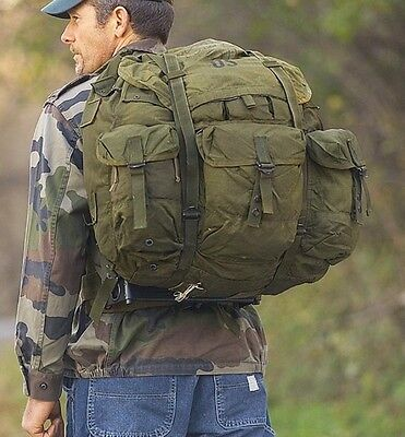 US OD Army Alice Pack Large Without Frame Real Military Surplus Survival USMC