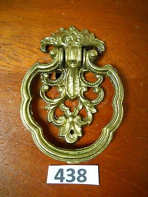 Antique Brass Single Screw Ring Drawer Pull