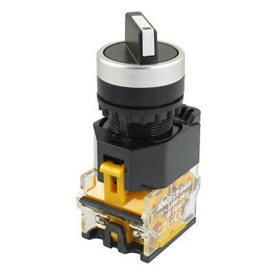 AC 415V 10A NO/NC 4-Terminal 2-Position Selector Self-Locking Push Button Switch