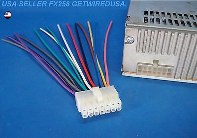 Stereo Wire Harness 14 Pin Radio Power Plug Back stereo wire harness 14 pin radio power plug back clip $8 95 picclick xod1752bt wiring harness at soozxer.org