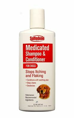 Sulfodene Medicated Shampoo & Conditioner for Dogs Stop Itching & Flaking 12oz