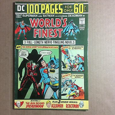 """World's Finest Comics #223 (8.0) """"wipe The Blood Of My Name"""" 1974"""
