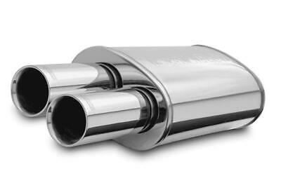Magnaflow Stainless Muffler w/Tips Street Series Inlet-Outlet 2.25in/3in 14815