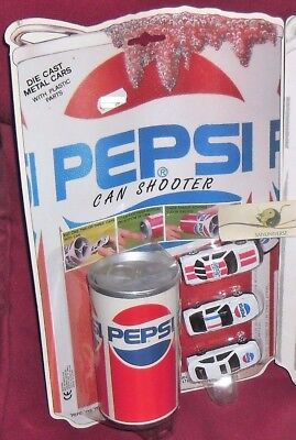 Blister Set Modellini Vintage Pepsi-Lattina Lanciatore/shooter Can + 3 Auto Cars