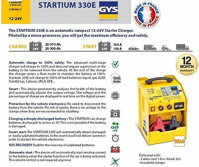 Gys Startium Automatic Compact 12- 24 Volt Battery Starter Charger Full Auto