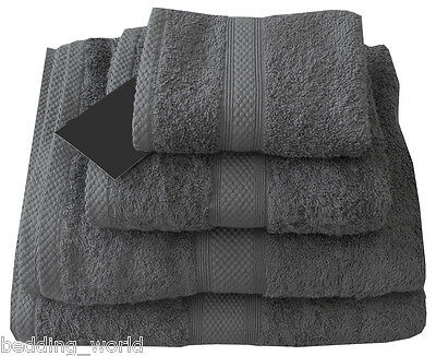 Charcoal 500 Gsm Egyptian Cotton Towels Grey Slate Luxury Combed Cotton