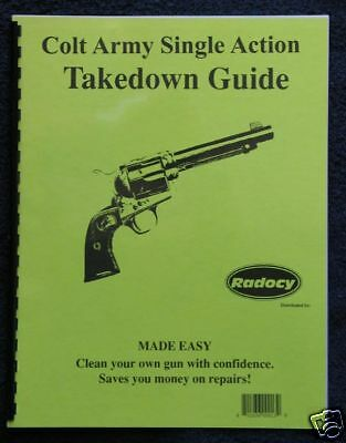 Colt Single Action Army SAA Takedown Assy. Guide Radocy