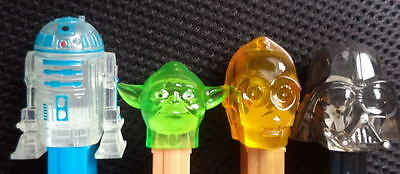 New 2015 STAR WARS CRYSTAL  set of 4 Mint loose PEZ