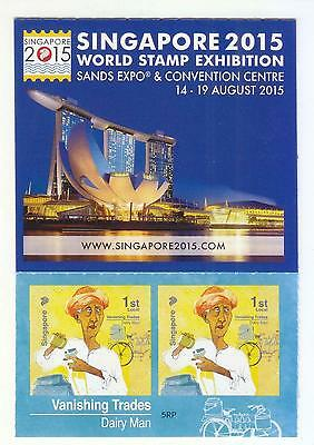 Singapore 2014 Vanishing Trade 1St Local Dairy Man 5Th Reprint 2014F Booklet Mnh