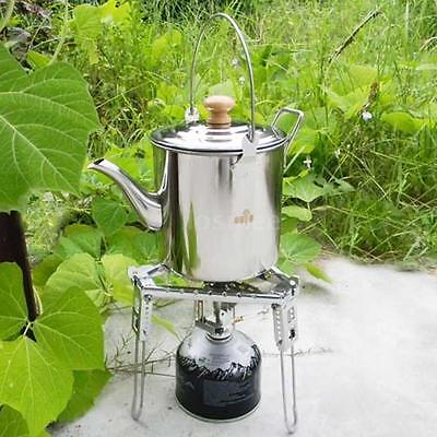 Large Capacity Outdoor Camp Stainless Steel Kettle Tea Coffee Pot NEW LS 56IX